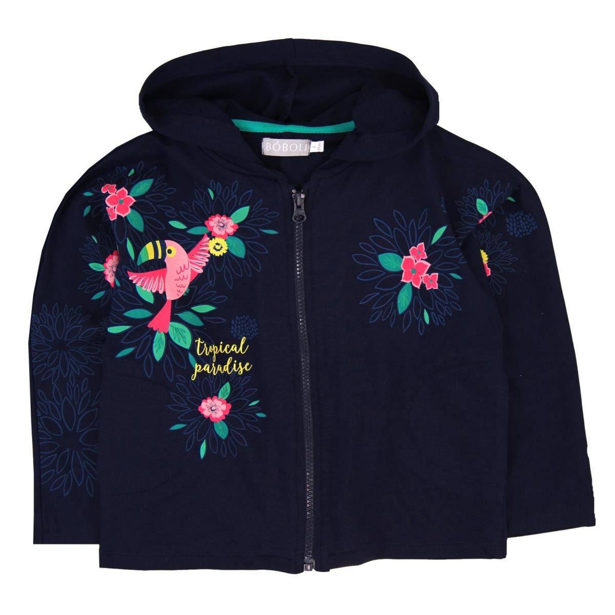 boboli Fleece Jacket For Girl, Felpa Bambina Blu (Navy) Bóboli 413143