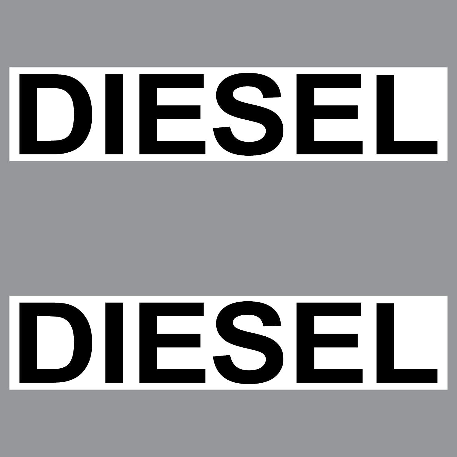 2  autocollants Stickers Diesel PVC 20  cm plaque signalé tique pour vé hicule Bidon essence Ré servoir de carburant GreenIT