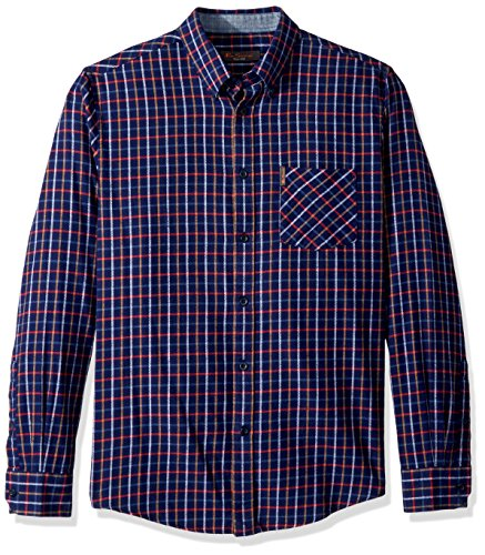 Ben Sherman Men's Check Flannel Shirt, Dark Navy, Small