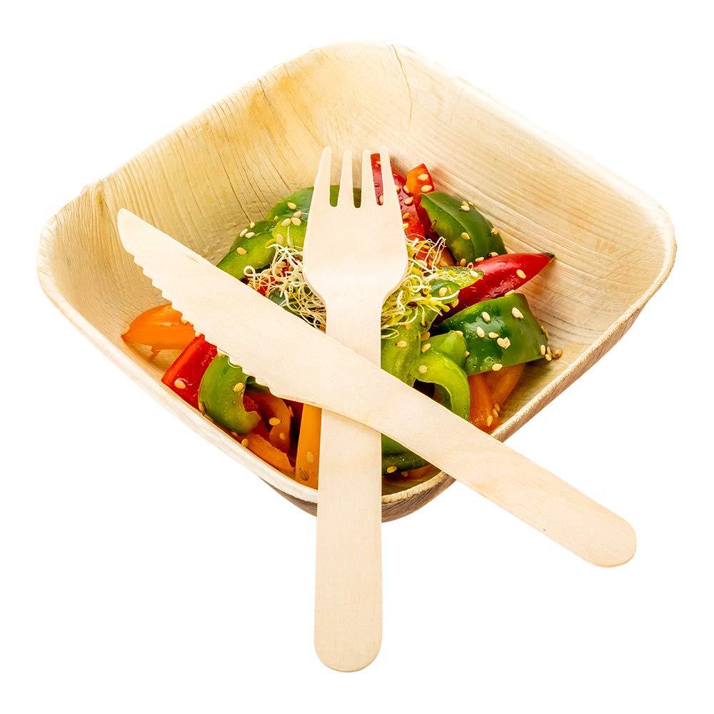 Simple Wood Knife, Wooden Knife - Birch Wood - 6.5'' - 500ct Box - Restaurantware by Restaurantware
