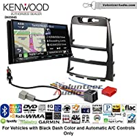 Volunteer Audio Kenwood Excelon DNX994S Double Din Radio Install Kit with GPS Navigation Apple CarPlay Android Auto Fits 2009-2012 Hyundai Genesis (Black) (Automatic A/C Controls)