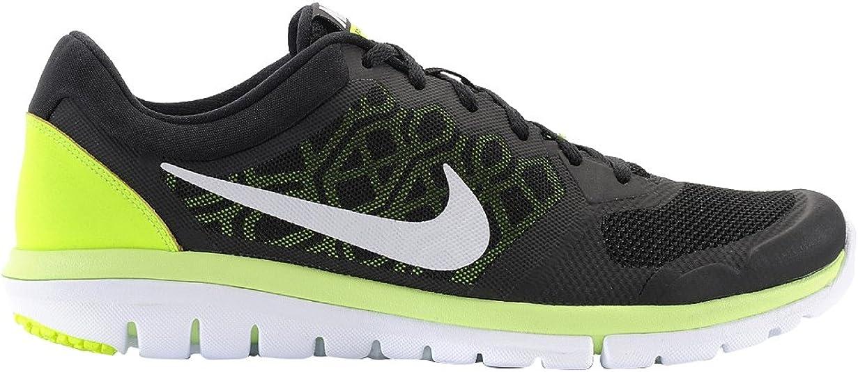 Nike Flex 2015 RN - Zapatillas de Running Unisex, Color Negro/Lima ...