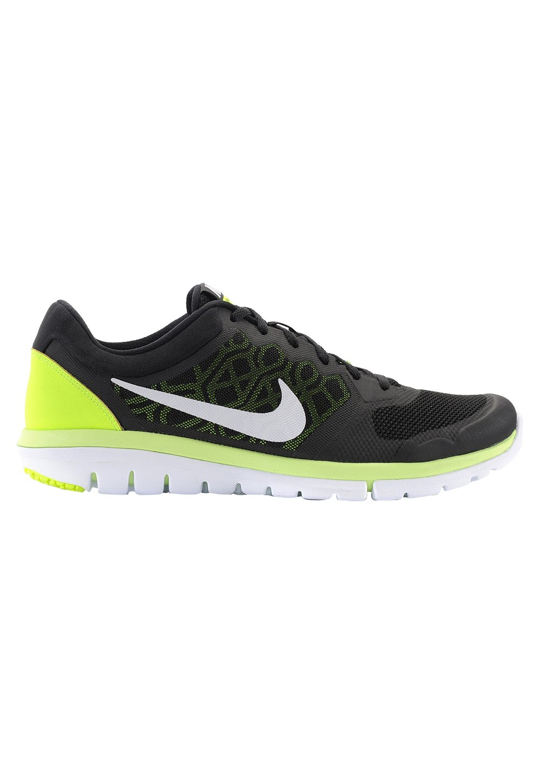 NIKE Men's Flex 2014 RN Running Shoe B00MXHE5HM 8 D(M) US|Black/White-Volt