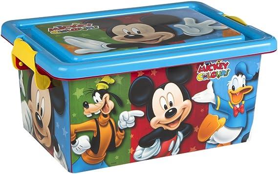 ColorBaby - Caja ordenación 7 litros, diseño Mickey Mouse (76601 ...