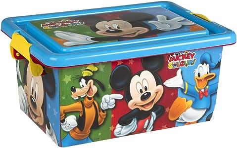 ColorBaby - Caja ordenación 7 litros, diseño Mickey Mouse (76601): Amazon.es: Juguetes y juegos