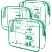 3pcs Lermende TSA Approved Toiletry Bag with Zipper Travel Luggage Pouch  Carry On Clear Airport Airline ac2296cc87d2e