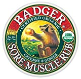 Badger Muscle Rub Organic Certified Organic Cayenne & Ginger Soothes & Relaxes 21g by Badger Balm
