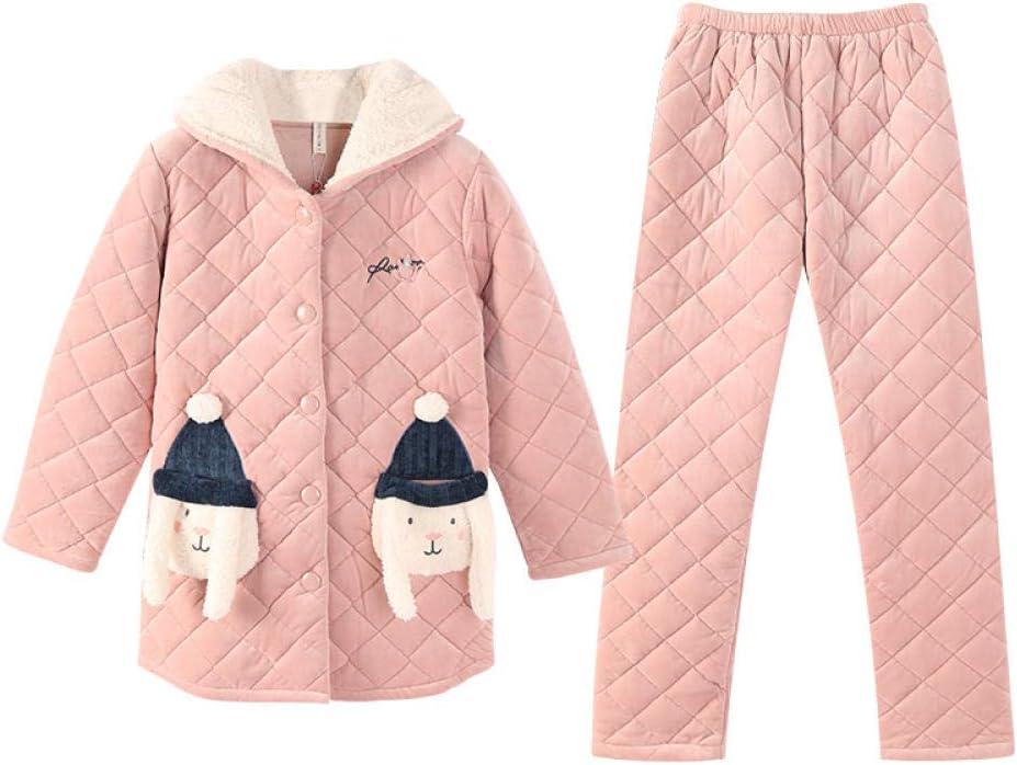 Bayrick Pijama Mujer Algodon Invierno,Invierno Coral Polar Pijamas ...