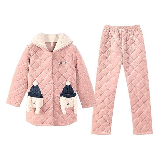 Bayrick Pijama Invierno Mujer calentito,Invierno Coral Polar ...