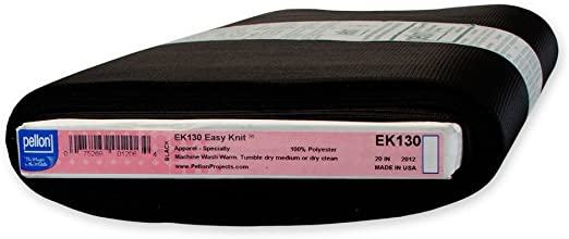 Pellon EK130 Easy-Knit Black 20 x 10 Yards