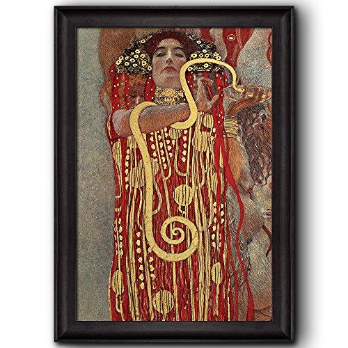 Hygeia (detail from Medicine) by Gustav Klimt Framed Art