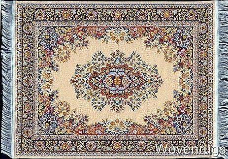 Computer Carpet Mouse Pad | Oriental Style Rug Mouse Mat (Beige)