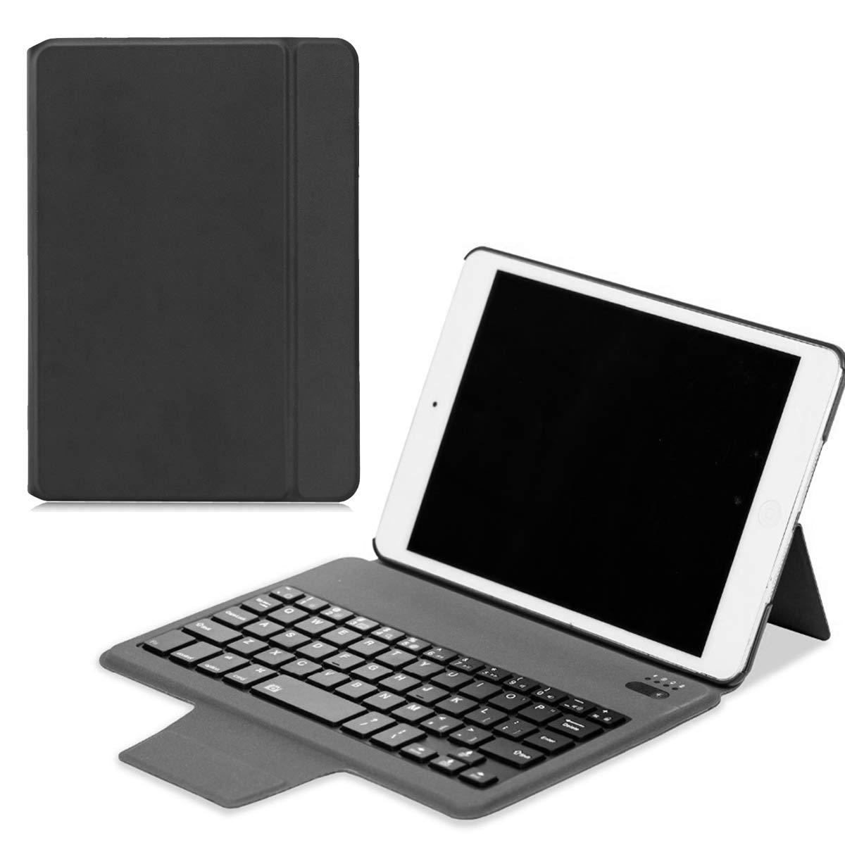 iPad Mini 4キーボードケース ワイヤレスレザーキーボードケース 超薄型ポータブル軽量タブレットプロテクターキーボード iPad Mini 4用   B07LF6V9X6
