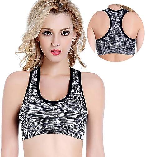 XYSQWZ Sujetador Deportivo para Mujer Crop Top Sujetadores Cómodos Niñas En Yoga Bralette Ocio Stretch Tops Chaleco 2/3 Pack A S: Amazon.es: Deportes y aire libre