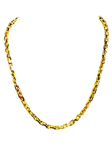 cbe10a27dfec3 14kt Solid Yellow Gold Handmade Anchor Link Men's Chain/Necklace 20 ...