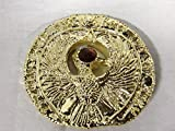 Indiana Jones, Staff of Ra, Egyptian Headpiece, Shiny Gold, Amber Jewel, Solid Metal