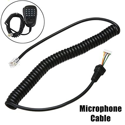 Microphone Mic Cable For Yaesu MH-36B6J FT-100 FT-100D FT-90R FT-2600M FT-3000M