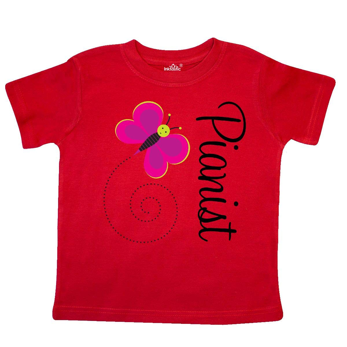 inktastic Pianist Piano Butterfly Toddler T-Shirt
