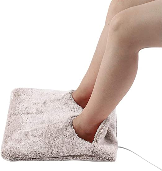 UK Electric Heated Warm Cosy Foot /& Hand Warmer Heating Slippers Sofa Pillow