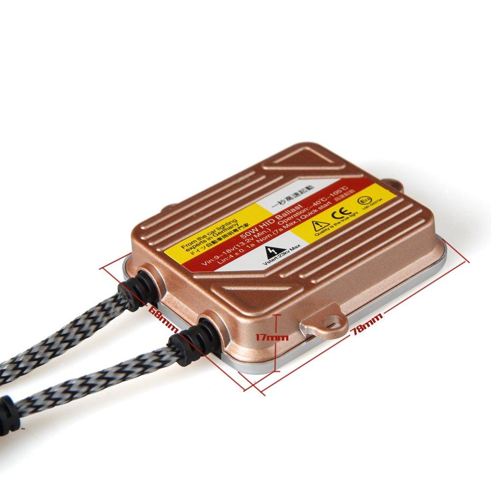 KOYOSO H1 Lampen 50W Schlank Hid Xenon Scheinwerfer Nachr/üstsatz Set Schnellstart Ersatzlampen 5000K