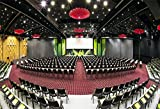 OFILA Auditorium Backdrop 7x5ft Photography Backdrop Event Great Hall Chairs Lights Electronic Display Screen Decorations Conference Constitution Photos Video Studio Props