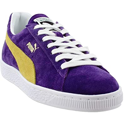 fee1018d8ab0 Image Unavailable. Image not available for. Color  PUMA Mens Collectors Suede  Classic Casual Athletic   Sneakers Purple