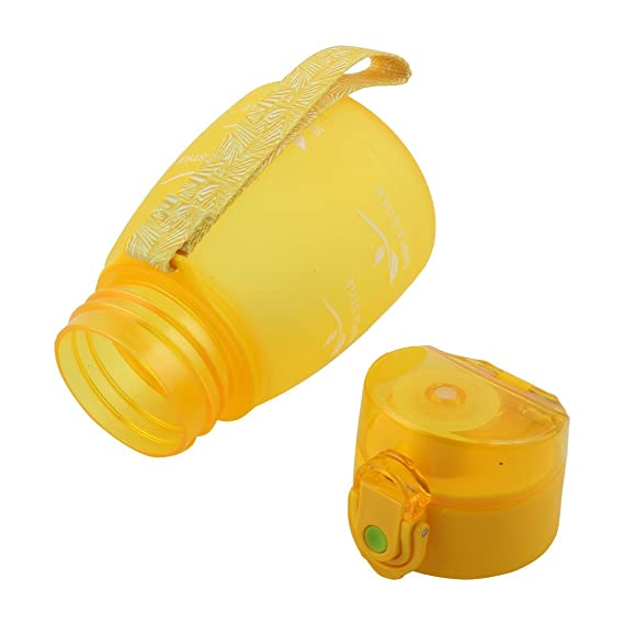 Amazon.com : eDealMax Patrón Escuela Estudiante Carta de plástico portátil Botella de 330 ml de la Correa de esmerilado Taza de agua de la paja : Sports & ...