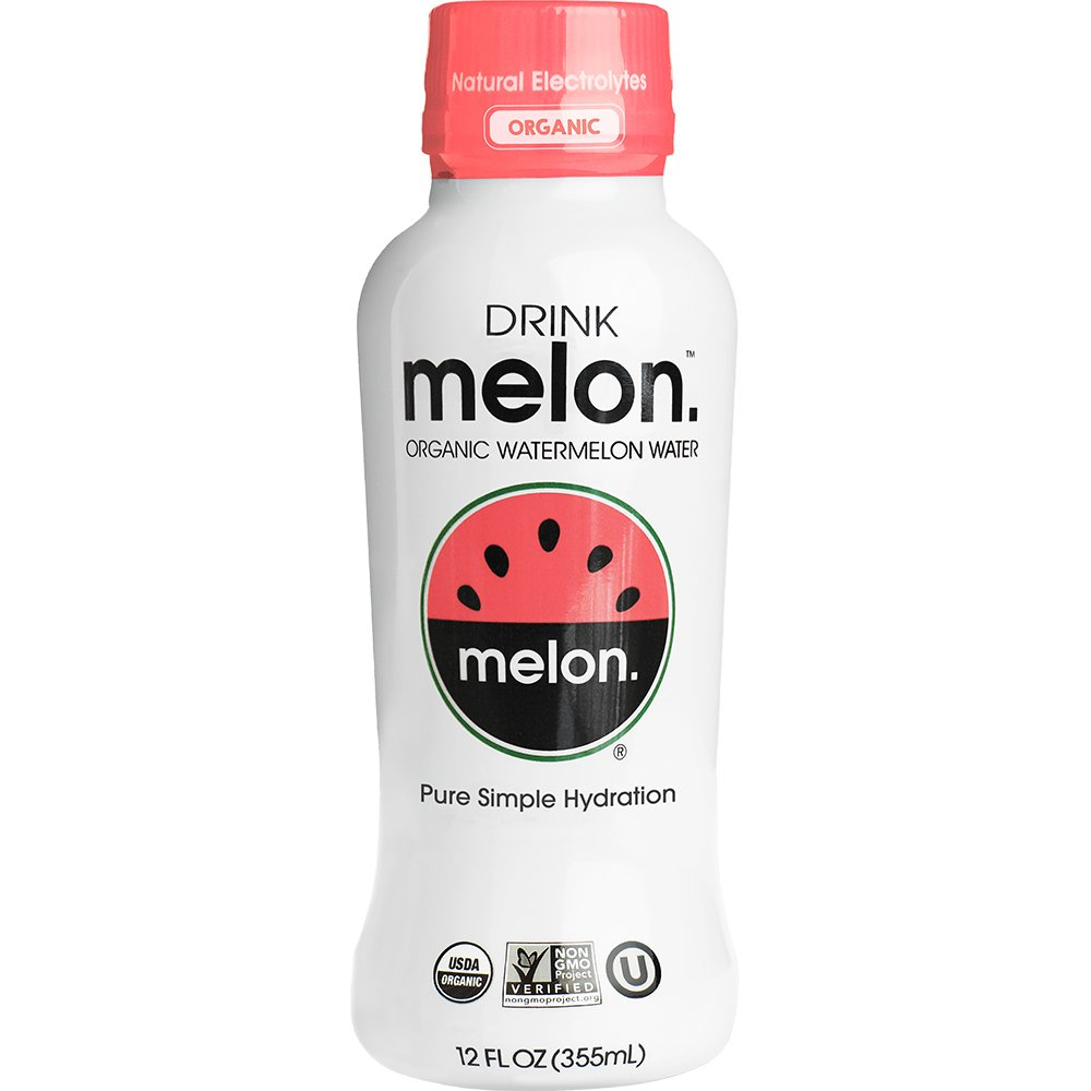 DRINKmelon Watermelon Water – Organic, Non-GMO, Gluten Free, Vegan Natural Hydration – Low Sugar Coconut Water Alternative – 12 Fluid Ounce (Pack of 12)