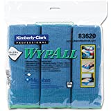 """WypAll 83620 Cloths with Microban Microfiber, 15 3/4"""" x 15 3/4"""", Blue (Pack of 6)"""