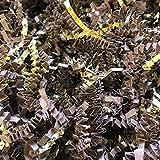 Black Cat Avenue 1 LB Brown & Gold Crinkle Cut Paper Shred Filler For Gift Wrap and Basket Filler