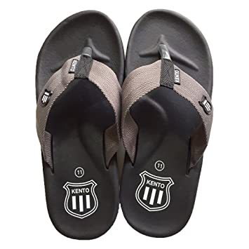 d7d0591b238a KENTO Dark Grey Thai Rubber Flip flop