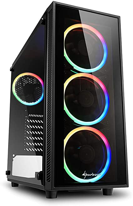 Sharkoon TG4 RGB - Caja de Ordenador, PC Gaming, Semitorre ATX ...