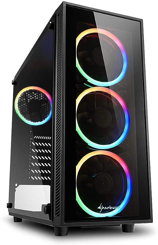 Sharkoon TG4 RGB - Caja de Ordenador, PC Gaming, Semitorre ATX ...