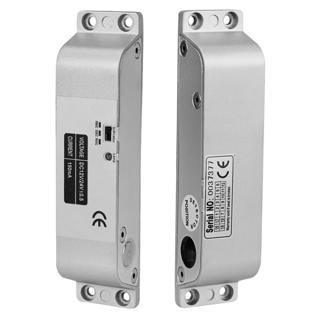 LIBO Elektrische Drop Bolt Lock DC 12 V Fail Safe NC Modus Elektronische T/ürschloss f/ür Zugangskontrolle Sicherheitssystem mit Zeitverz/ögerung