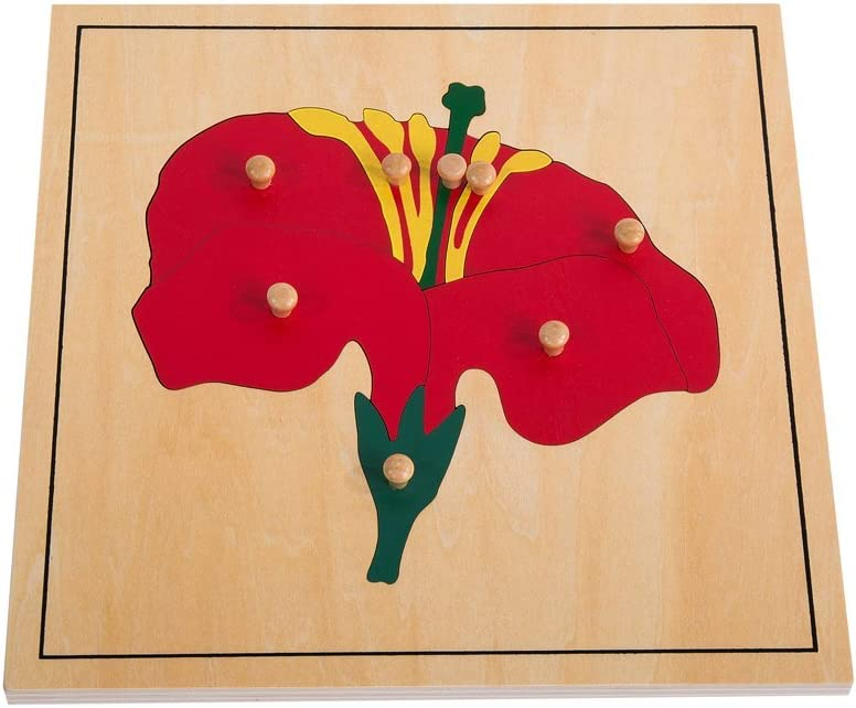 LEADER JOY Montessori Nature Materials Flower Puzzle for Early Preschool Learning Toy