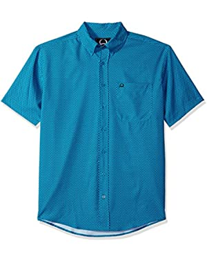 Men's Arenaflex Short Sleeve Button Print Shirt