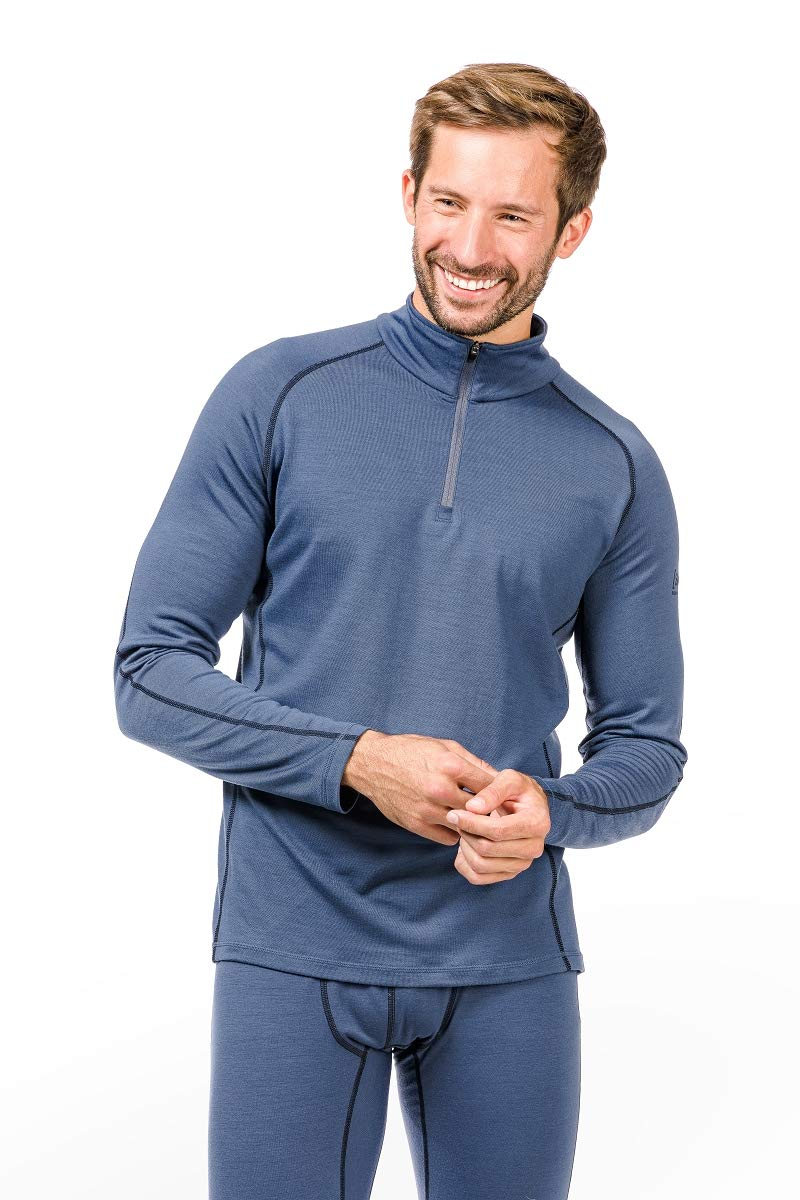 Super.natural Herren M Base 1/4 Zip 230 Merino Longsleeve