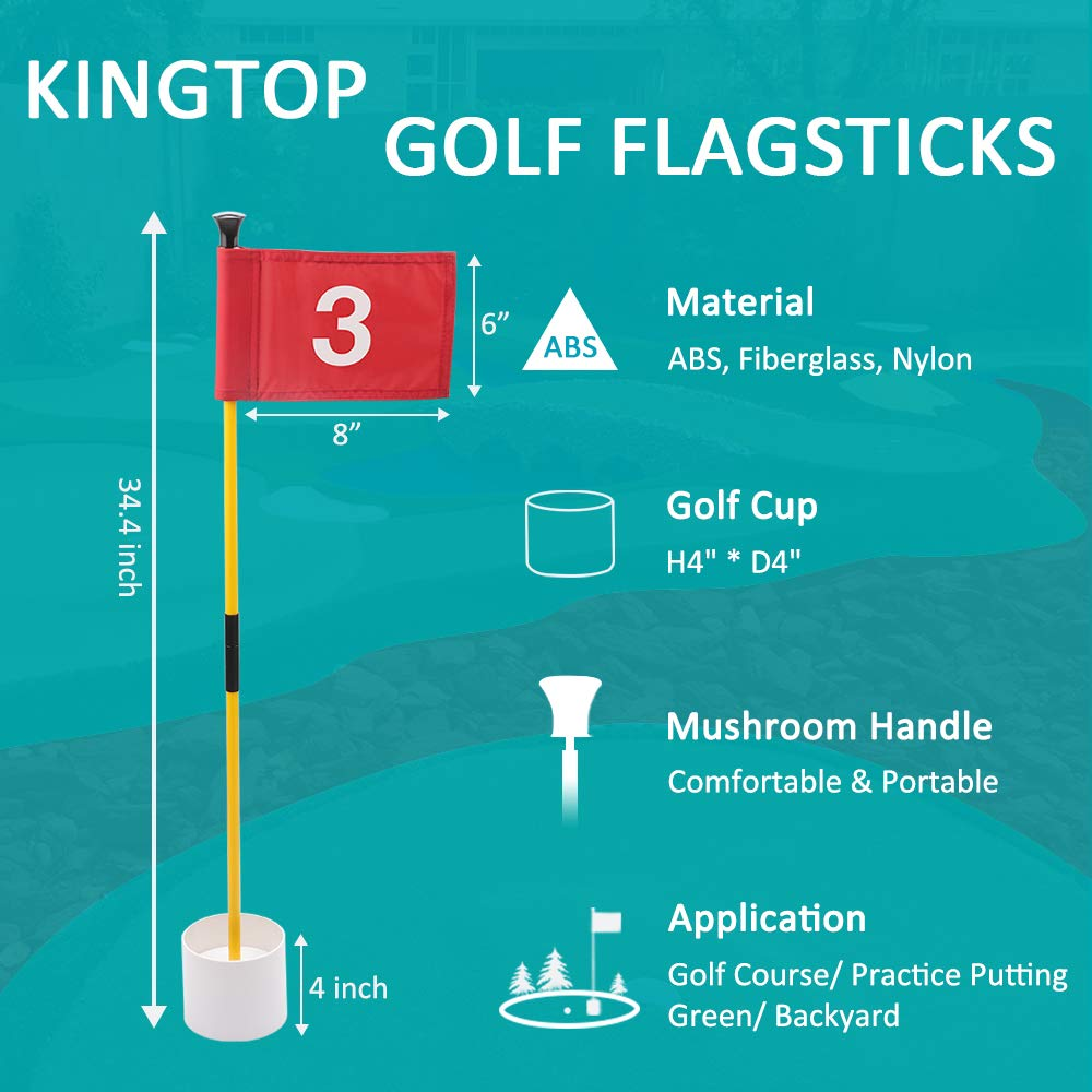 Amazon.com: Kingtop - Juego de palos de golf con banderas ...