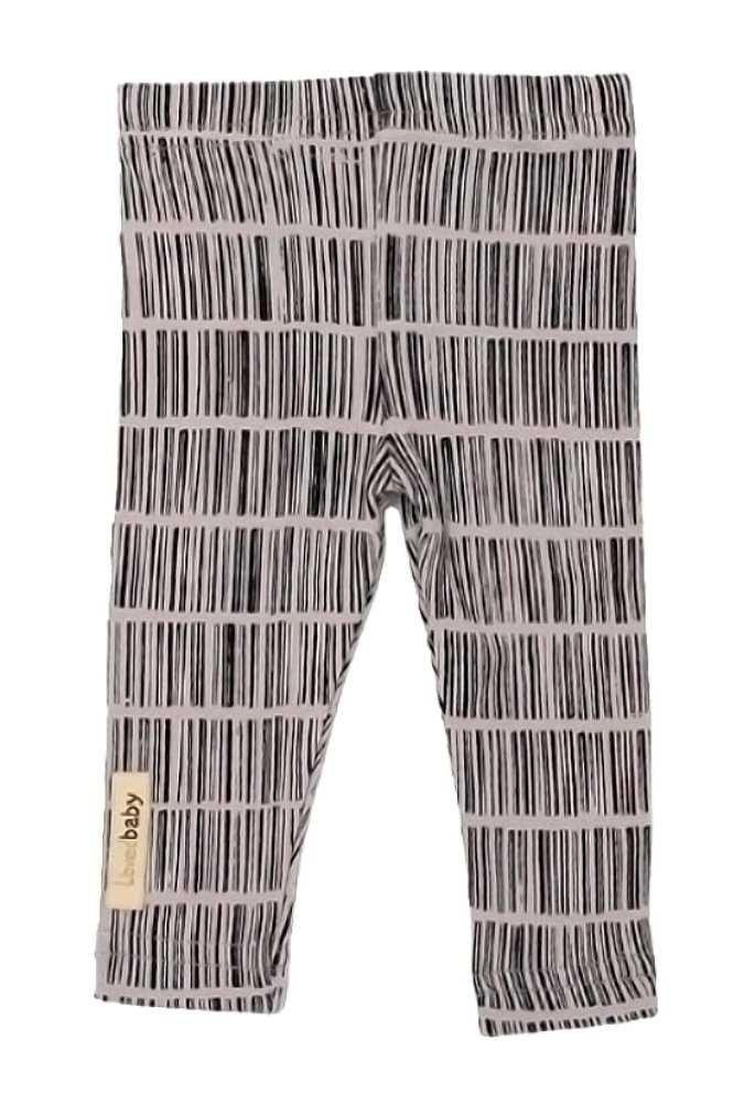 L'ovedbaby Unisex-Baby Organic Cotton Leggings (12-18 Months, Light Gray Barcode)