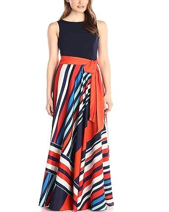 a40496c549c06d Roiii® Damen Frauen Sommer Casual Print Lange Party Maxi Kleid Plus Größe  EU 36-