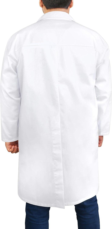 Utopia Wear Professional Lab Coat Men - Laboratory Coat 41 Inch Kick Pleat (White) (XXL): Clothing