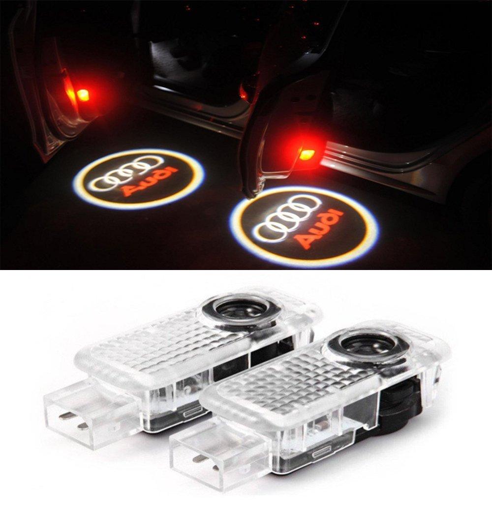 2 St/ück einfache installation LED Einstiegsbeleuchtung Door Shadow Licht Projektor Logo