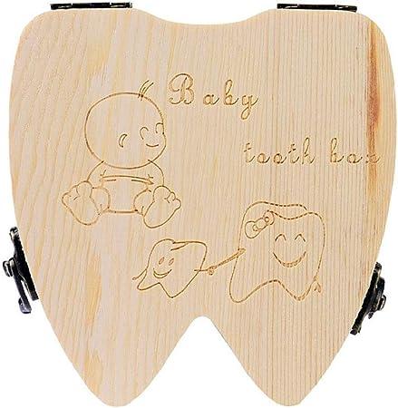 Sannysis Caja de almacenamiento de madera para Dientes de leche ...