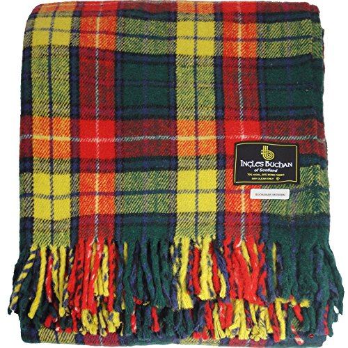 iLuv Buchanan Modern Scottish Tartan Blanket