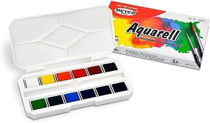 Aquarell Farbkasten 12er Set Meyco Amazon De Burobedarf