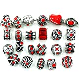 Best Spacers With Red Crystals - Pro Jewelry Ten (10) of Assorted Shades of Review