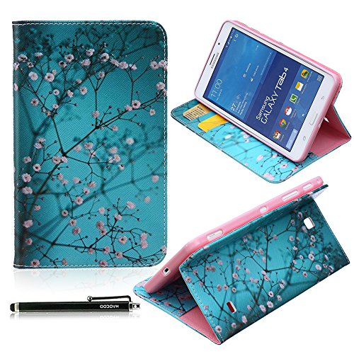 Samsung Galaxy Tab 4 7.0 Case, HAOCOO Stylish Art Print Slim PU Leather Flip Smart Stand Case with Card Slots for Samsung Galaxy Tab 4 7.0