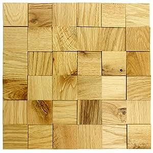 Wodewa paneles de madera para pared roble natural i 30 x - Panel decorativo cocina ...