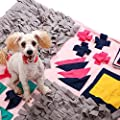 "Dononna Wooly Snuffle Mat Pet Sniffing Pad Nosework Blanket Dog Training Mats Dog Feeding Mat Pet Activity Mat Great for Stress Release (27.6"" x 39.4"") from Dononna"