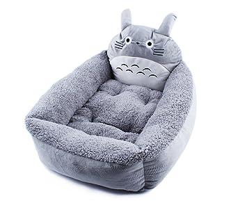 Coolpet ベッド 猫用 犬用 トトロ風 ふかふかベット クッション (M)
